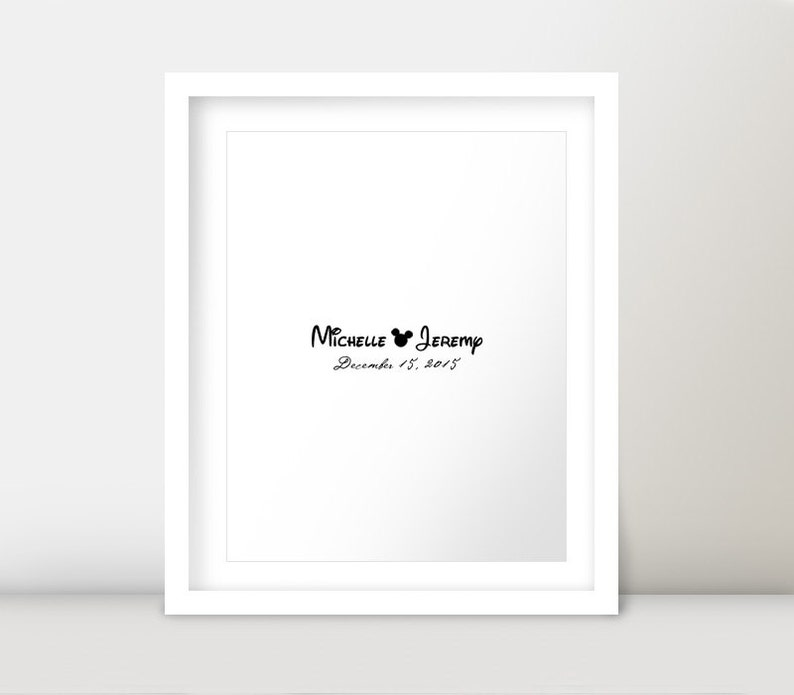 Personalized Mickey Minnie Mouse Disney Cruise Wedding Reception Modern Guest Book Alternative Signature Poster Sign DIY Digital Printable
