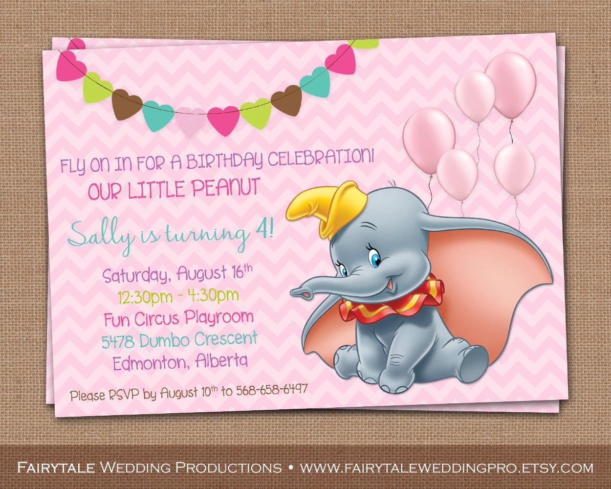 Personalizada de Dumbo el elefante feliz primero segundo | Etsy