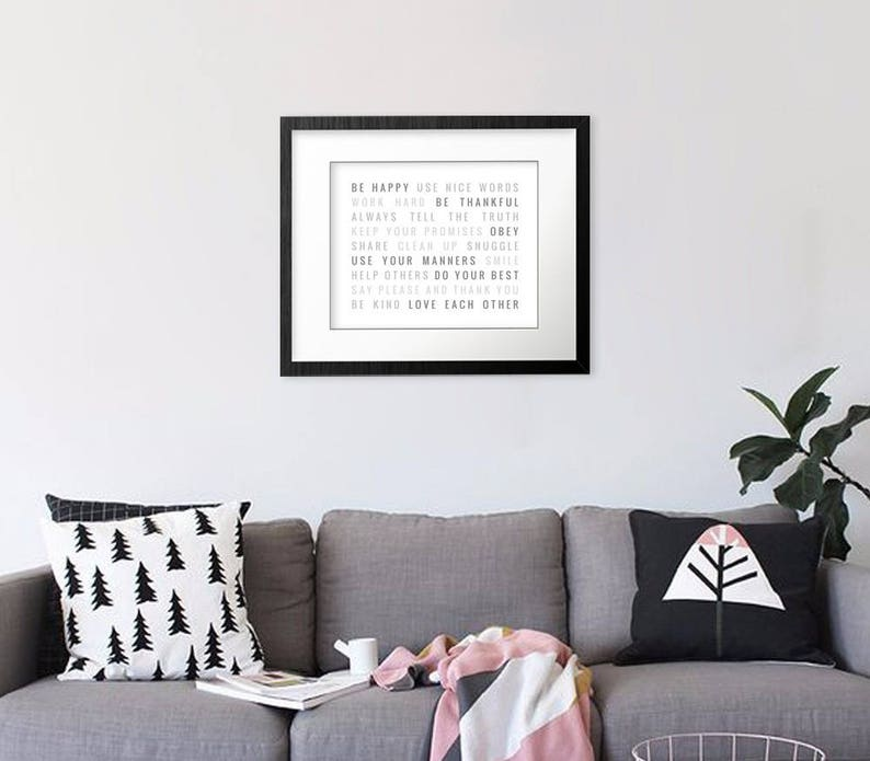 Home Interior Wall Art Decor Prints Family Typography Type Designer Posters