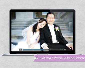 Personalized Wedding DVD Reception Slideshow - Photo & Video Montage Featuring Bride and Groom Childhoods and Life Together