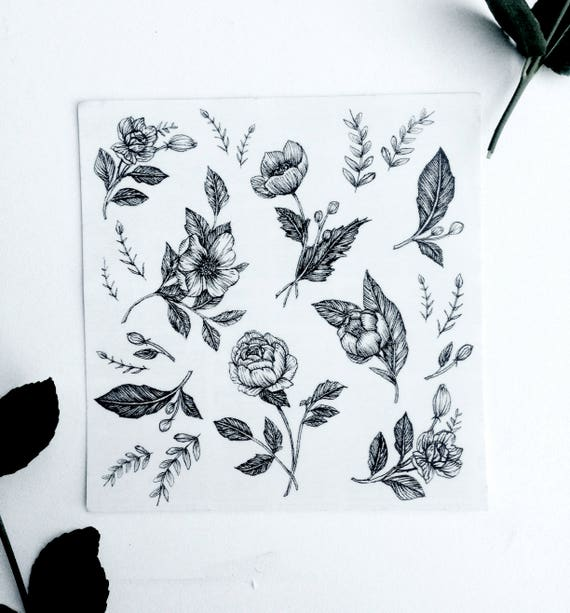 Floral Temporary Tattoo Bundle Detail Mini Tattoos 5 X 5