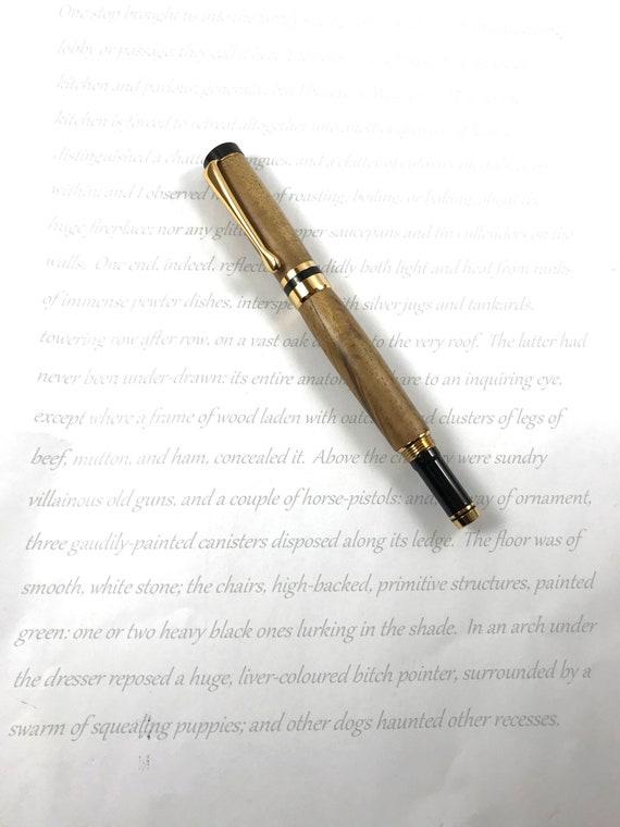 Fountain Pen Figured Teak Handturned Wood Pen
