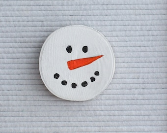 Handpainted Snowman Letter Board Ornament // Felt Letter Board Accessories // Holiday and Christmas Decor // Home Decor