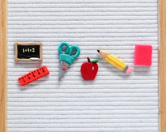 Back to School Letter Board Ornaments (Pack of 6) // Letter Board Icons and Accessories // Home Decor // Back to School Shopping