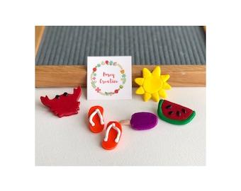 Summer Letter Board Accessories // Felt Letter Board Icons // Home Decor // Beach Decor // Gift Ideas