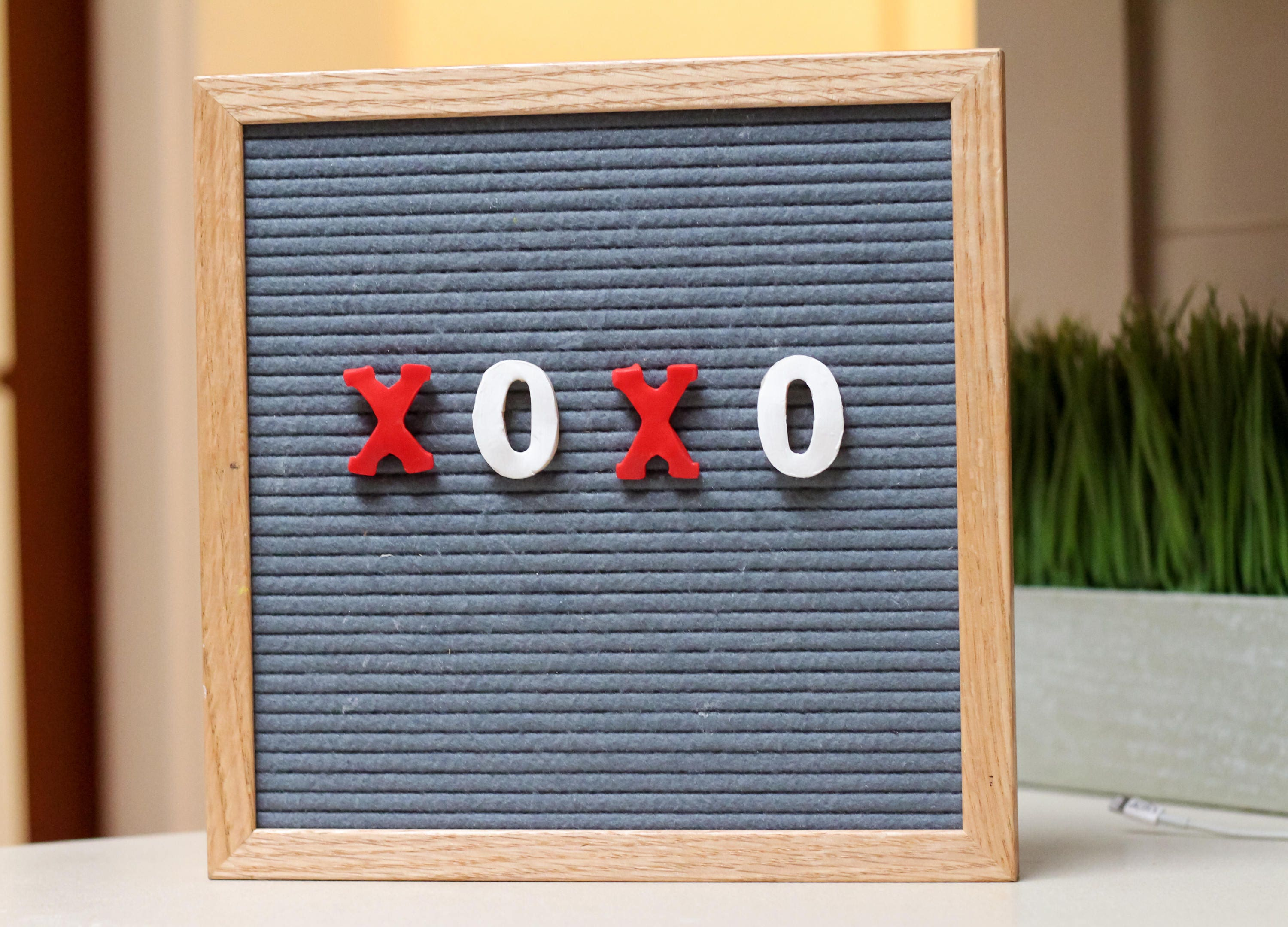Valentine S Day Xo Letterboard Ornaments Pack Of 4 Etsy