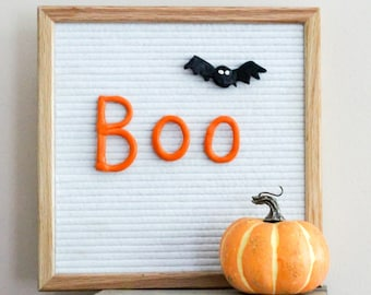 HALLOWEEN LETTERBOARD ORNAMENTS (Pack of 3 letters- Boo) // Letter board Accessories // Fall Decor