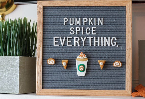 PUMPKIN SPICE Fall Letter Board Ornaments