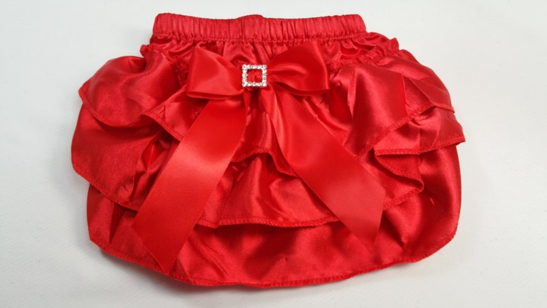 8aae4450a9 Red Ruffled Diaper Cover Red Ruffle Baby Bloomer Toddler