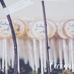 Wedding Favor Lollipop Special // 200 Lollipops with Custom Labels // Pick up to 8 Flavors // Wedding Favors // Favors for Guest // Leccare