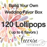 Wedding Favor  Summer Special // 120 Lollipops with Custom Labels // Pick up to 6 Flavors // Wedding Favors // Favors for Guest // Leccare