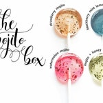 Cocktail Wedding Favors // Mojito Lollipops // 4 Flavors // 20 Lollipops