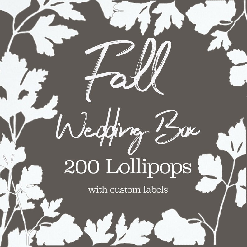 Lollipop Wedding Favors // Fall Flavor Lollipops // Bulk image 0