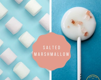 New - Salted Marshmallow Lollipops // Sweet & Salty // Fall Thank You Gift // 10 Lollipops