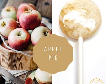 Apple Pie Lollipops // Favors for Guest // Fall Wedding Favor // Summer Wedding // Bridal Shower // Baby Shower // Leccare  // 10 Count
