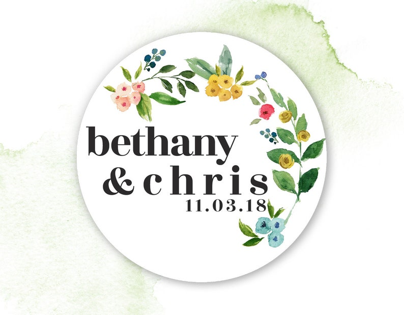 Lollipop Labels // Flowers and Botanical // Fall Wedding image 0