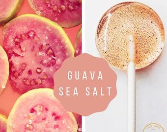 New - Guava Vanilla Sea Salt Lollipops // Tropical // Beach Wedding // Mini Wedding // 10 Lollipops