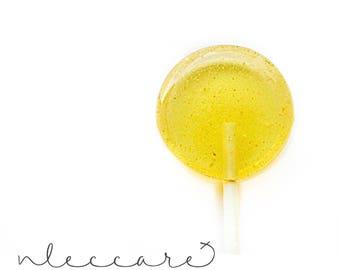 Honey  Lemon  Ginger Lollipops // Honey Candy // Ginger Candy // Fall  Wedding // Spring Wedding // Leccare Lollipops // 12 Count