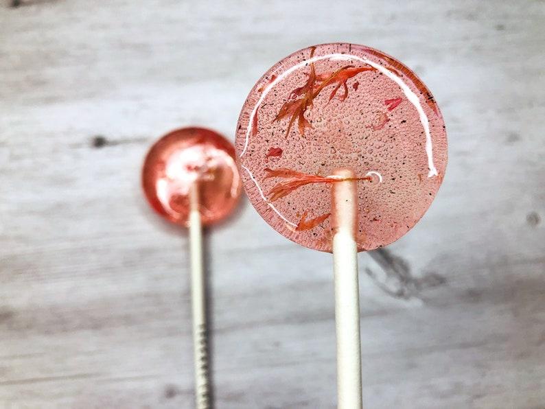 Pink Flower Lollipops // Watermelon Lollipops // Wedding image 0