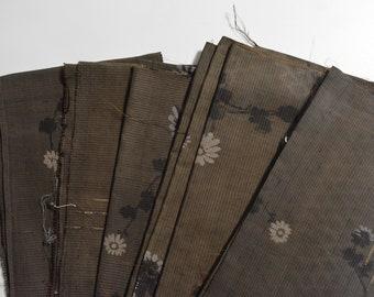 Japanese Silk Fabric, Deconstructed Vintage Kimono  #S8