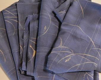 Vintage Japanese Roh Silk Fabric