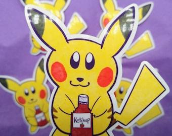 Pika Ketchup Sticker