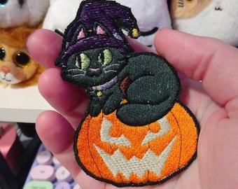 GLOW Cat Witch Patch