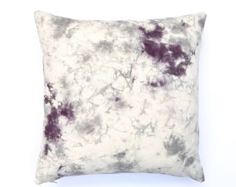 Marble Design Pillow Cover, Plum and Gray Marbled Pillow, Bohemian Pillow, Black Cherry Pillow, Plum Pillow