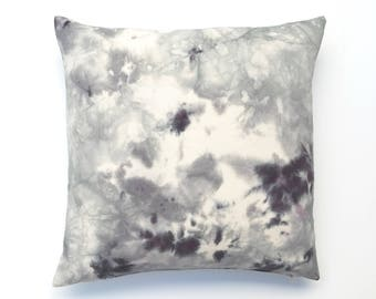 Purple and Gray Marbled Pillow Cover 20x20   Bohemian Grey Throw Pillow with Marble Design 2