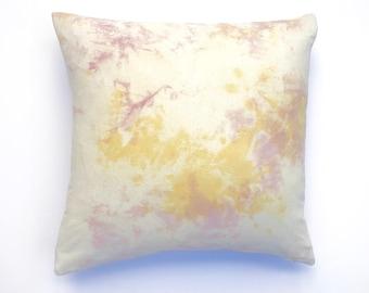 Marigold and Blush Pink Pillow   Marble Design Bohemian Pillow, Yellow and Pink Nursery Pillow