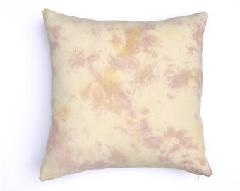 Blush Pink Pillow  Marbled Boho Pillow Cover 20 x 20 Dusty Rose Boho Nursery Gypsy Boho Decor Dorm Hand dyed Marble Design Pink and Yellow 2