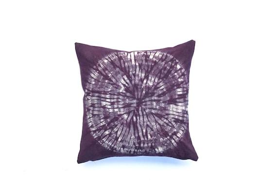 Eggplant Throw Pillow Hand Dyed Shibori Purple Pillow Cover 40 Etsy Extraordinary Eggplant Decorative Pillows