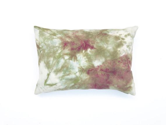 Bohemian Pillow Beige Marble Design Pillow Shibori Pillow Hand Dyed Marbled Pillow