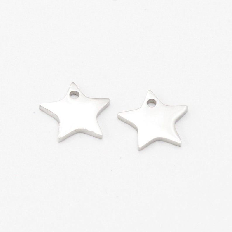 10pcs 11x16mm Highly Polished Stainless Steel Pentagram Pendant Charms,Lovely Star Necklaces,Stainless Steel DIY Supplies,Jewelry Findings