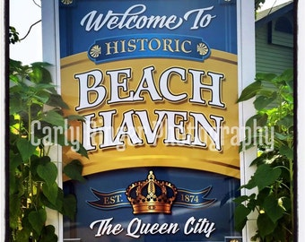 LBI: Welcome to Beach Haven Tile Coaster