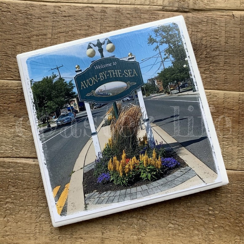 Avon by the Sea Welcome Sign Coaster
