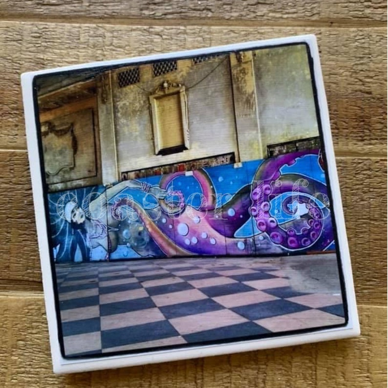 Casino Mural Tile Coaster Asbury Park