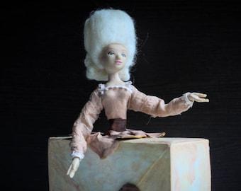 Art Doll Sculpture - Letter - OOAK Artist doll
