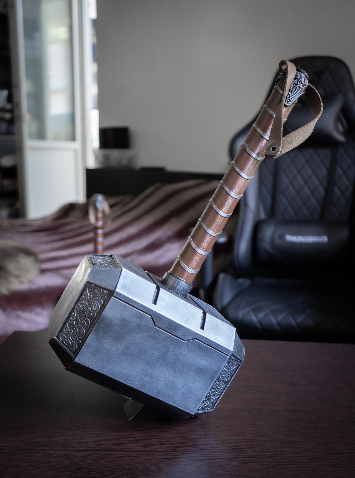 Thor Hammer  Hammer of Thor Cosplay Prop  Life Size image 1