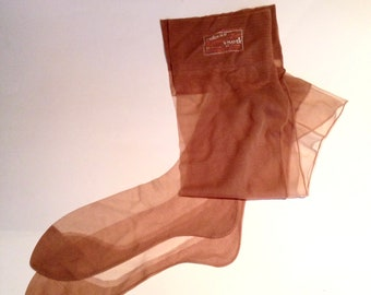Late 1940s 'Milace' Nylon Seamed Stockings - Unworn
