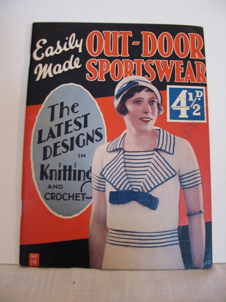 1930s Knitting 12 Pattern Book  pdf  30s knitting image 0