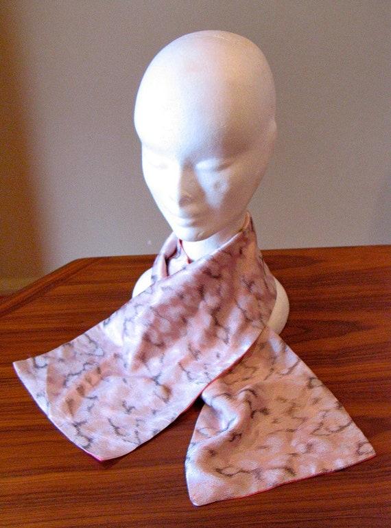 Vintage 1940s Pink Silk Scarf | 1940s - image 3
