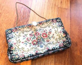 Vintage 1950s Petit Point Handbag | 1950s handbag