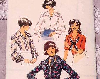 Vintage 1976 Blouses Pattern   Bust 36   Unused   1970s does 30s