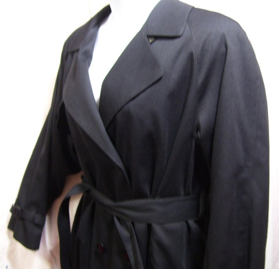London Fog, Classic, Trench, Winter, Coat, Long, Gabardine Wool, Zip Out Lining, Size 16, Resort Cruise Wear by Etsy