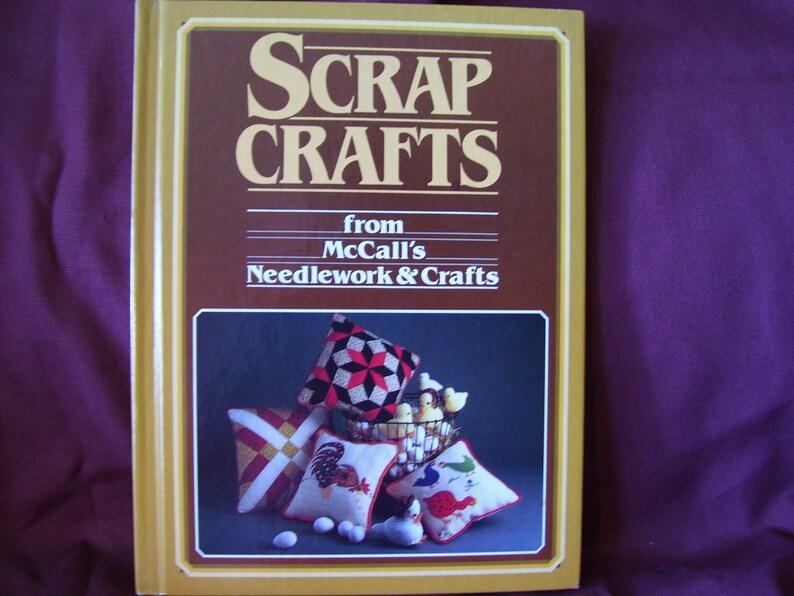 Vintage McCalls Scrap Craft Needwork and Craft Book circa 1984 image 0