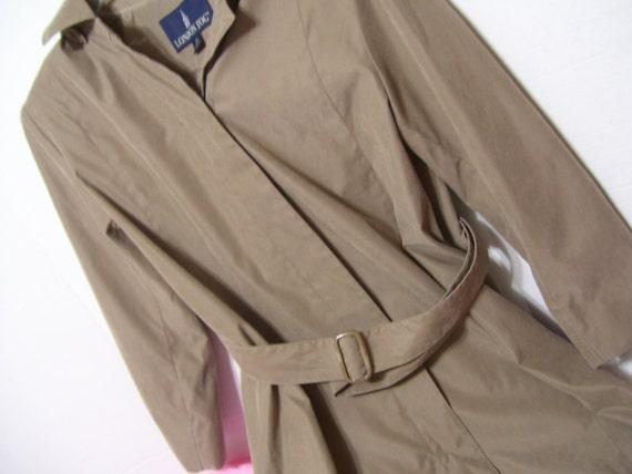 Women's Petite London Fog Trench Coat Overcoat Wit