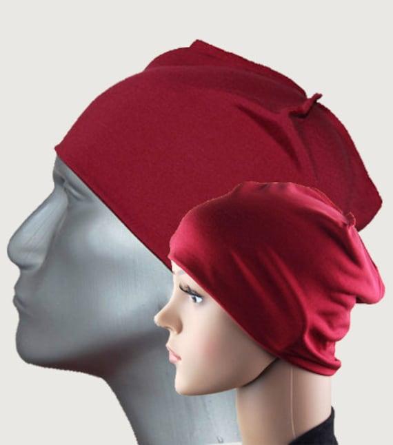 Luxus Nachtmütze aus Seidenjersey 4 Farben Schlafmütze   Etsy