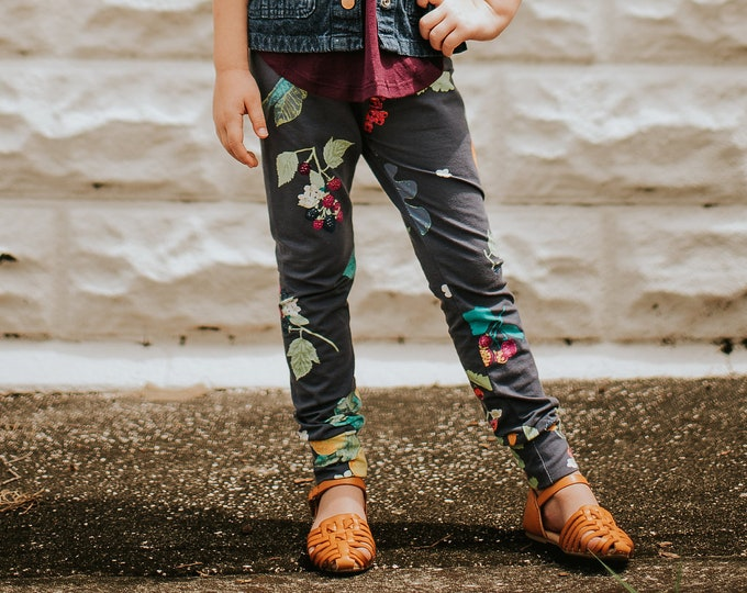 "Featured listing image: Bohemian Babies ""Fruit and Flower"" Leggings"