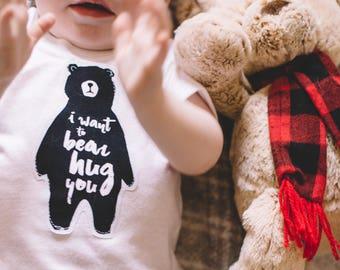 "Bohemian Babies ""I Want A Bear Hug "" Tee"